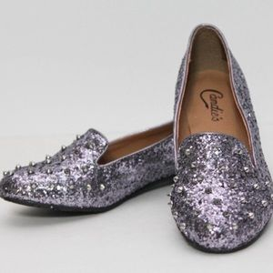 Candie's Stud Glitter Flats Loafers Shoes